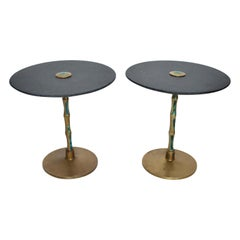 Pepe Mendoza, Pair of Side Tables, Midcentury Mexican Modernist