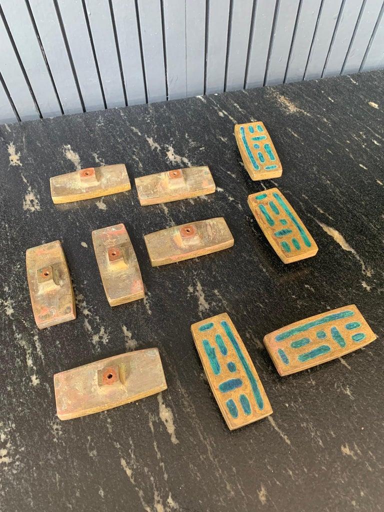 Pepe Mendoza Set of 10 Pull Knobs In Good Condition For Sale In San Pedro Garza Garcia, Nuevo Leon