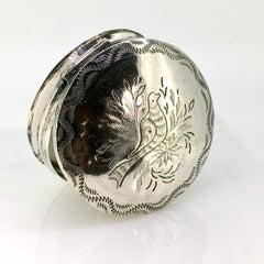 Peppermint Box, Antique, Round, Bird, Schoonhoven the Netherlands,