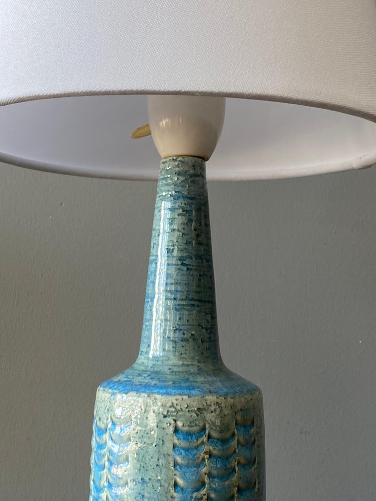 Per & Annelise Linneman-Schmidt, Table Lamp, Stoneware, Palshus, Denmark, 1960s In Good Condition In West Palm Beach, FL