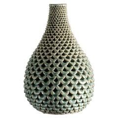 Per Liljegren, Green Ceramic Vase, Sweden, 2019
