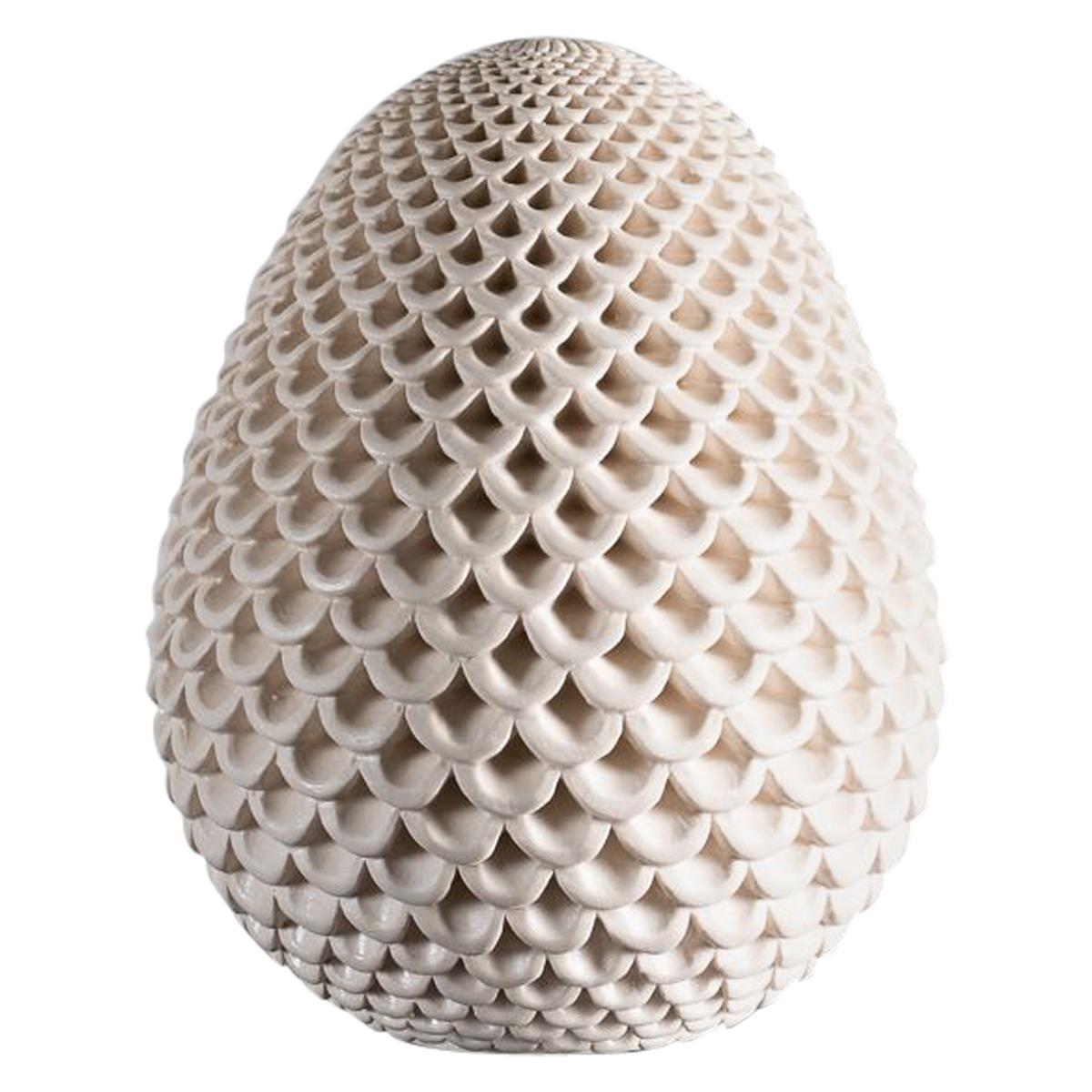 Per Liljegren, White Ceramic Object, Sweden, 2019