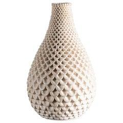 Per Liljegren, White Ceramic Vase, Sweden, 2019
