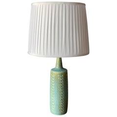 Per Linneman-Schmidt, Table Lamp, Stoneware, Fabric, Palshus, Denmark, 1960s