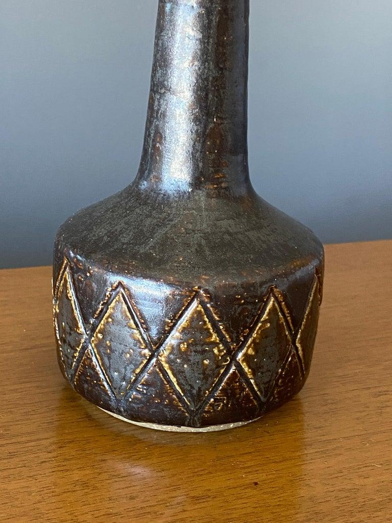Mid-Century Modern Per Linneman-Schmidt, Table Lamps, Ceramic, Fabric, Palshus, Denmark, 1960s For Sale