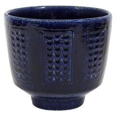 Per Linnemann-Schmidt for Palshus Danish Mid-Century Modern Blue Ceramic Bowl