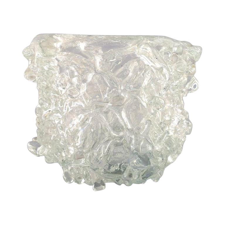 Per Lütken for Holmegaard 'Denmark', Unique Glass Bowl in Clear Art Glass
