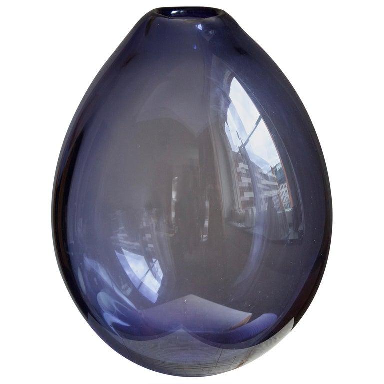 """Per Lütken, Very Large """"Drop"""" Vase, Blown Glass, Holmegaard, Denmark, c. 1960 For Sale"""
