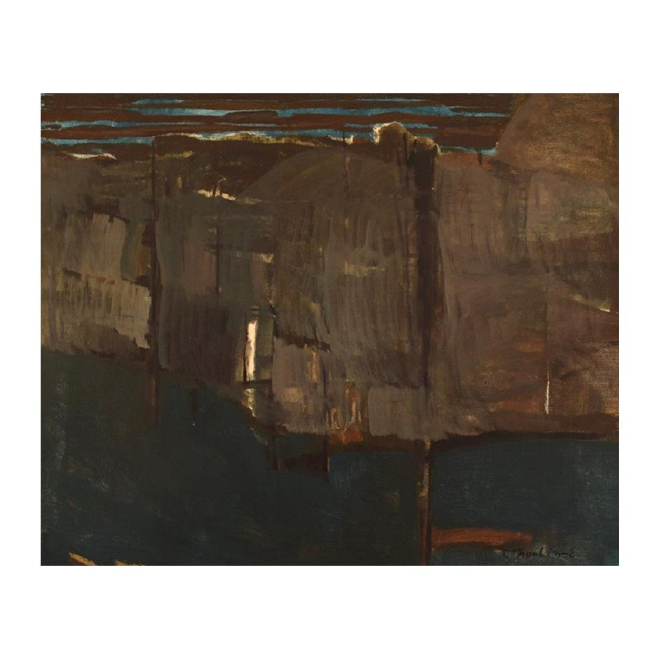 Per Thorlin 'B. 1923', Norway, Oil on Canvas, Abstract Landscape, 1960s