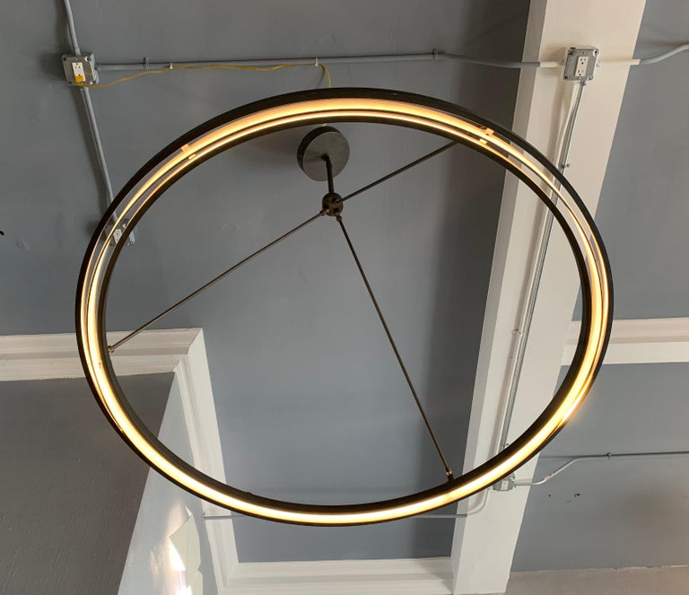 Peralta Round Chandelier by Jon Sarriugarte In Good Condition For Sale In Los Angeles, CA