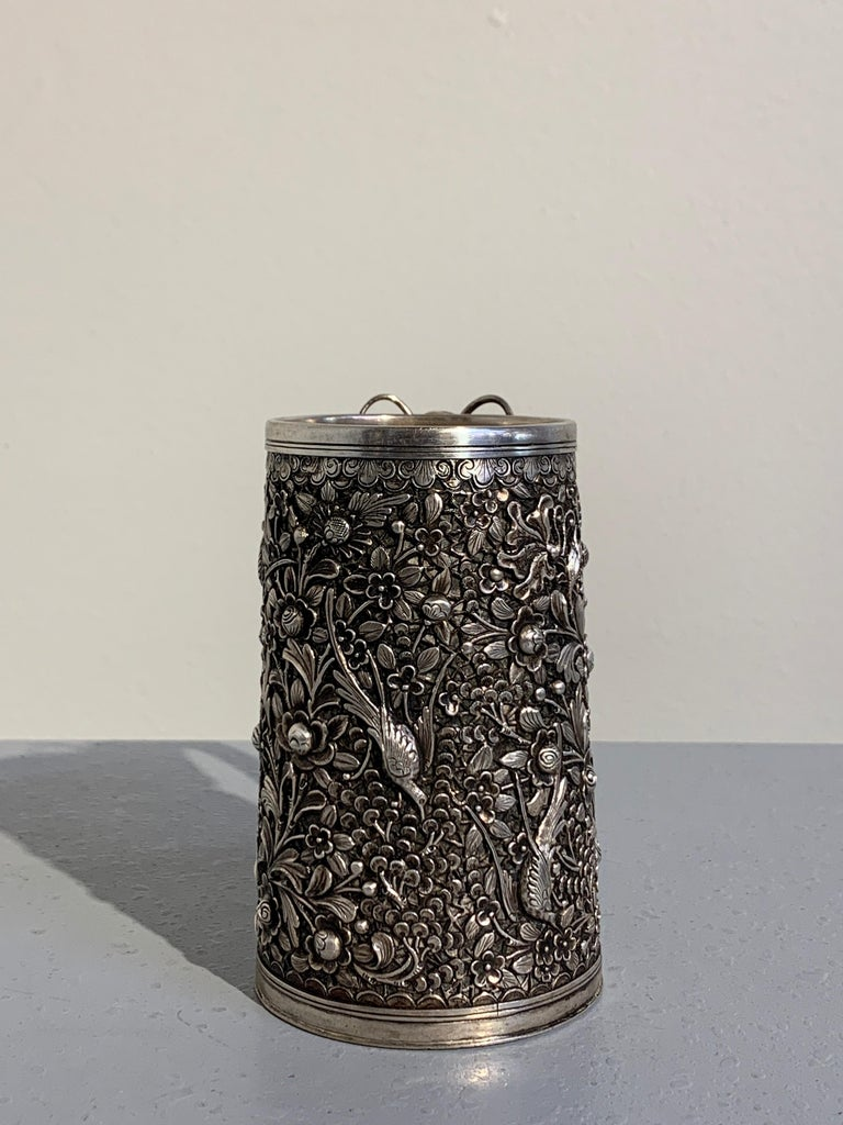 Peranakan Chinese Export Silver Tankard with Dragon Handle, 19th Century For Sale 2