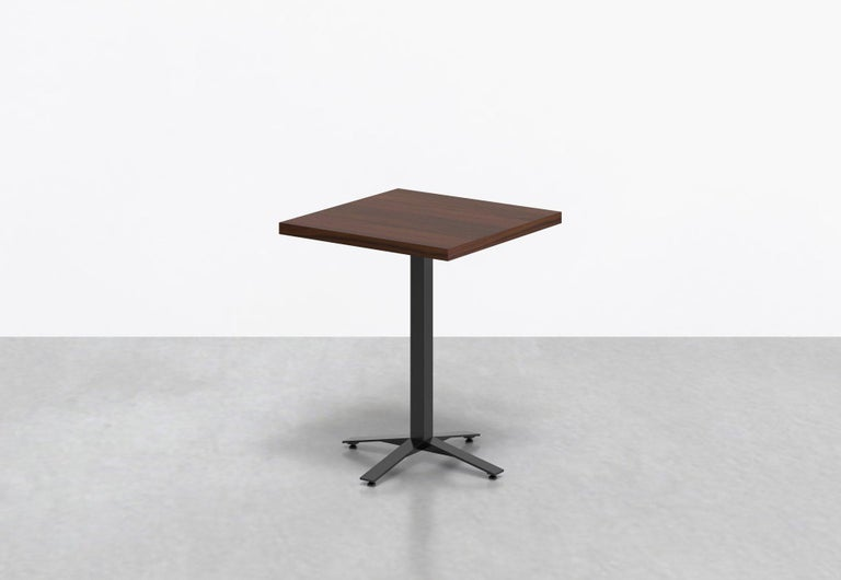 Powder-Coated Perch Cafe Table in Walnut For Sale