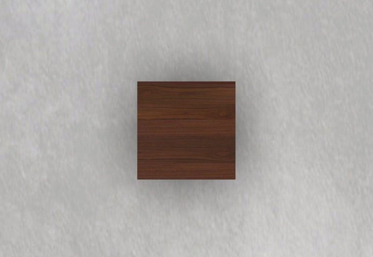 Contemporary Perch Cafe Table in Walnut For Sale