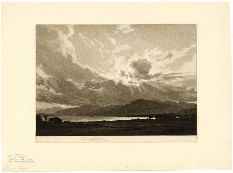 Sunset - Ardgour - Print by Percival Gaskell, R.E.