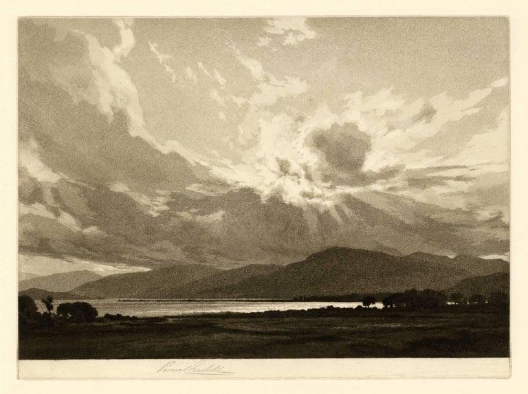 Percival Gaskell, R.E. Landscape Print - Sunset - Ardgour