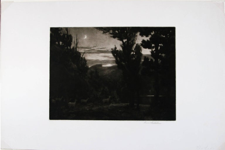 The Lake.  - Print by Percival Gaskell, R.E.