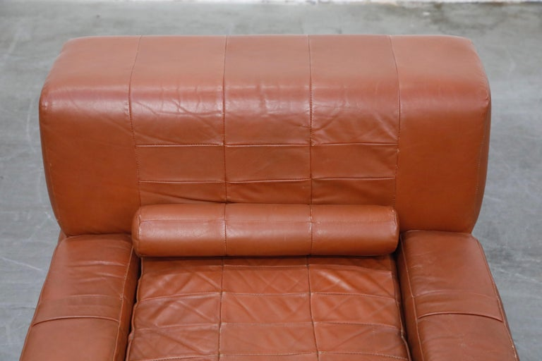 Percival Lafer Adjustable Leather Armchair and Ottoman, Brazil, circa 1960 For Sale 6