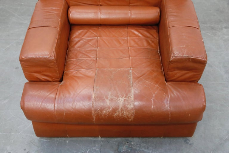 Percival Lafer Adjustable Leather Armchair and Ottoman, Brazil, circa 1960 For Sale 7