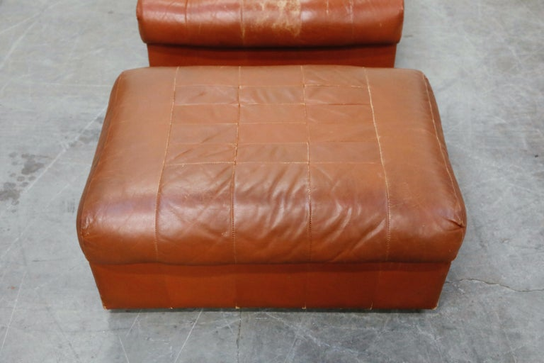 Percival Lafer Adjustable Leather Armchair and Ottoman, Brazil, circa 1960 For Sale 8