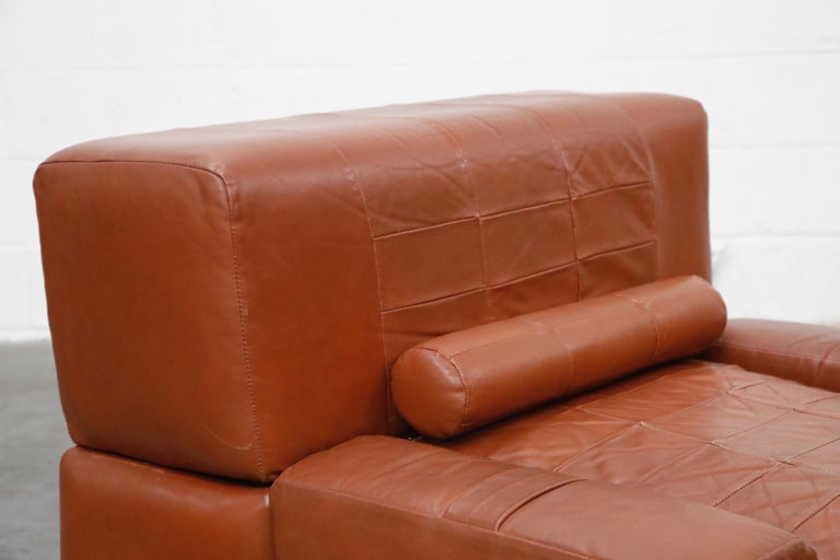 Percival Lafer Adjustable Leather Armchair and Ottoman, Brazil, circa 1960 For Sale 9