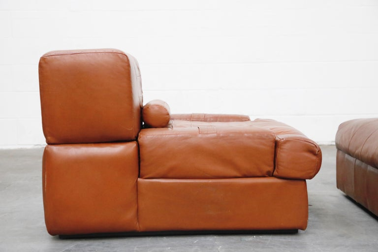 Percival Lafer Adjustable Leather Armchair and Ottoman, Brazil, circa 1960 For Sale 12