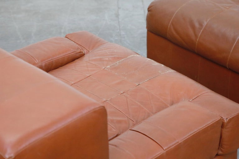 Percival Lafer Adjustable Leather Armchair and Ottoman, Brazil, circa 1960 For Sale 13