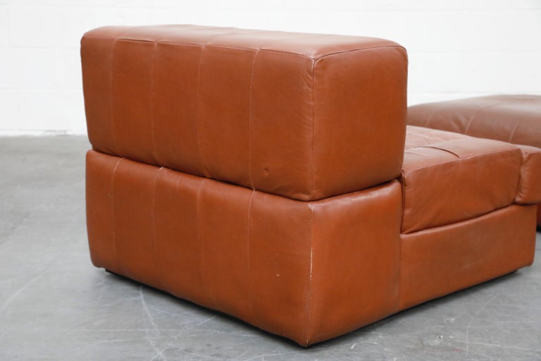 Percival Lafer Adjustable Leather Armchair and Ottoman, Brazil, circa 1960 For Sale 14