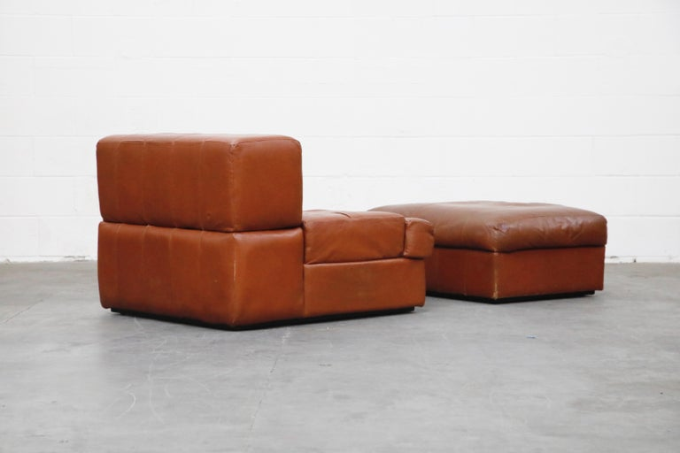 Percival Lafer Adjustable Leather Armchair and Ottoman, Brazil, circa 1960 For Sale 2