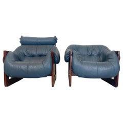 Percival Lafer Brazilian Modern Lounge Chairs, a Pair