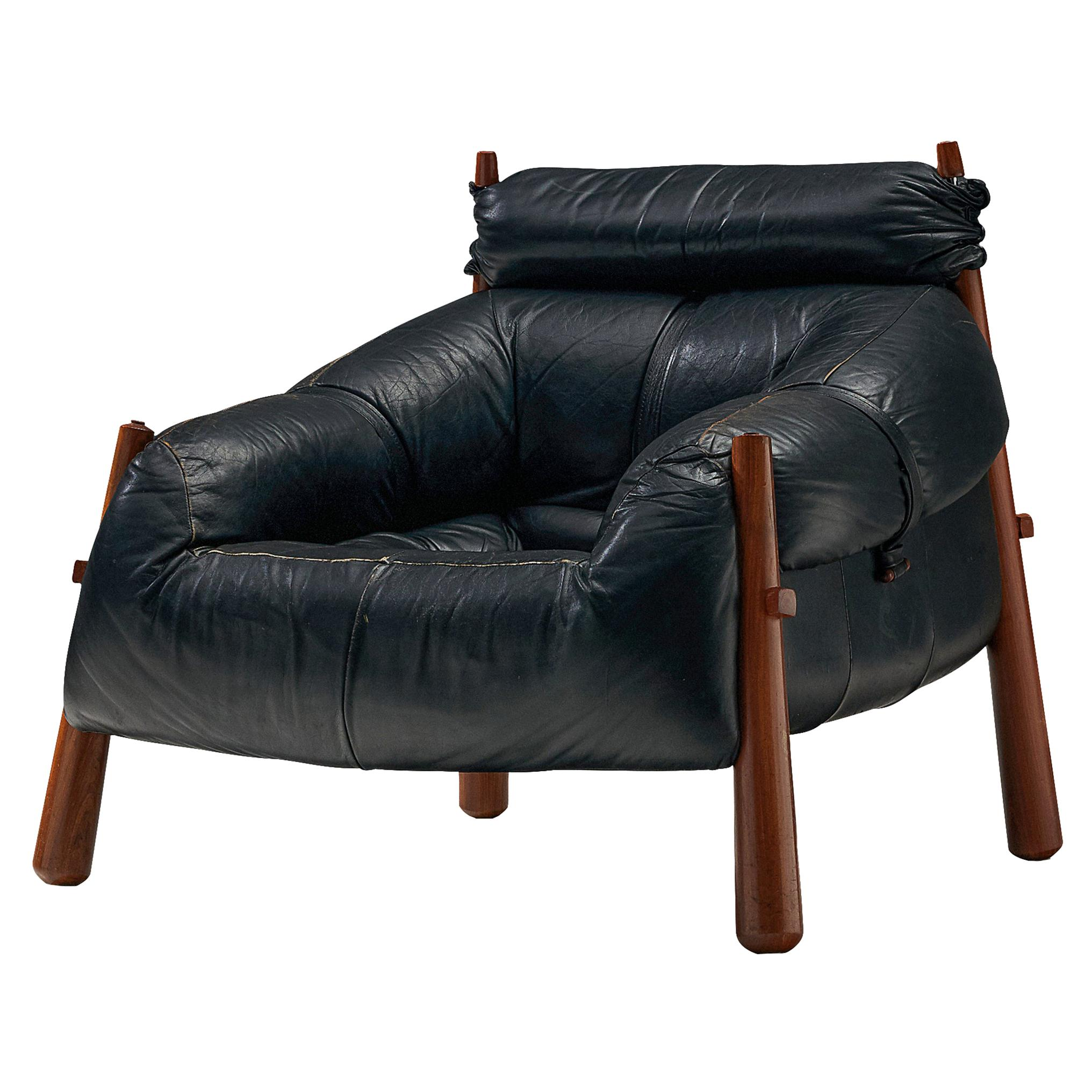 Percival Lafer Easy Chair Model 'MP-81' in Leather