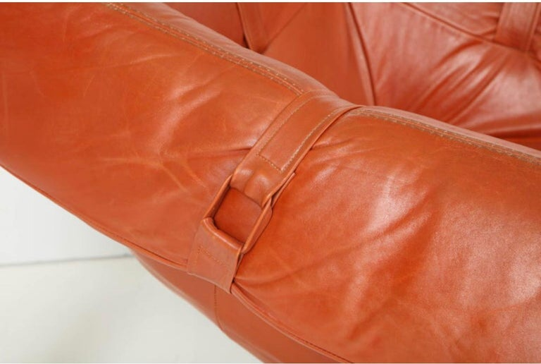 Leather Percival Lafer Lounge Chairs For Sale