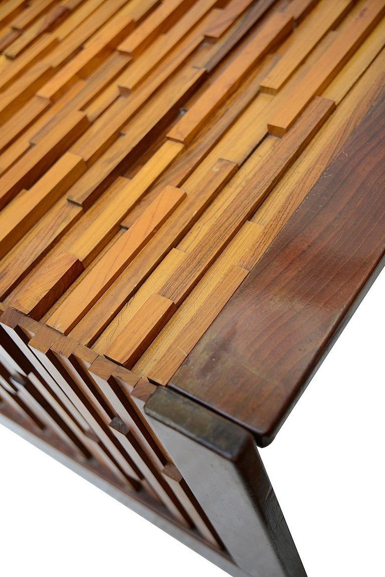 Inlay Percival Lafer Mid-Century Modern Brutalist Style Coffee Table For Sale