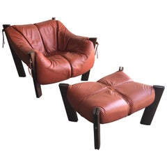 Percival Lafer MP-211 Lounge Chair and Ottoman