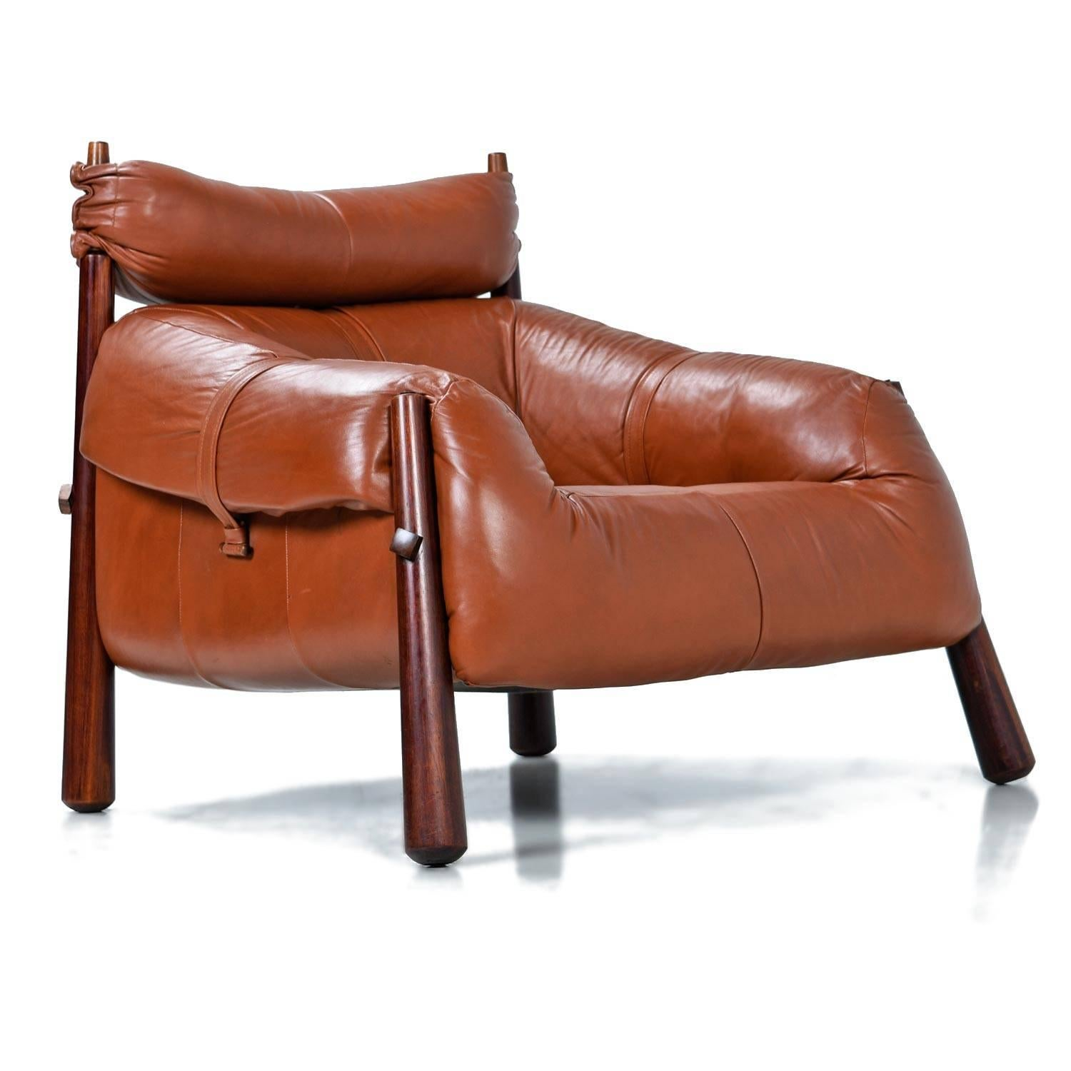 Mid 20th Century Percival Lafer MP 81 Brazilian Rosewood U0026 Leather Lounge  Chairs And