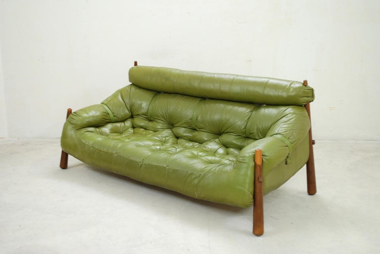 Pleasant Percival Lafer Mp 81 Green Leather Sofa 1972 Ibusinesslaw Wood Chair Design Ideas Ibusinesslaworg