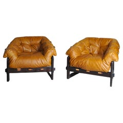 Percival Lafer Pair of Midcentury Brazilian Lounge Chair, 1960s