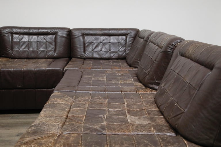 Percival Lafer Patchwork Leather Modular Living Room Set, circa 1960, Signed For Sale 6