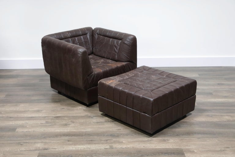Percival Lafer Patchwork Leather Modular Living Room Set, circa 1960, Signed For Sale 1