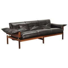 Percival Lafer Rosewood Sofa with Ottoman