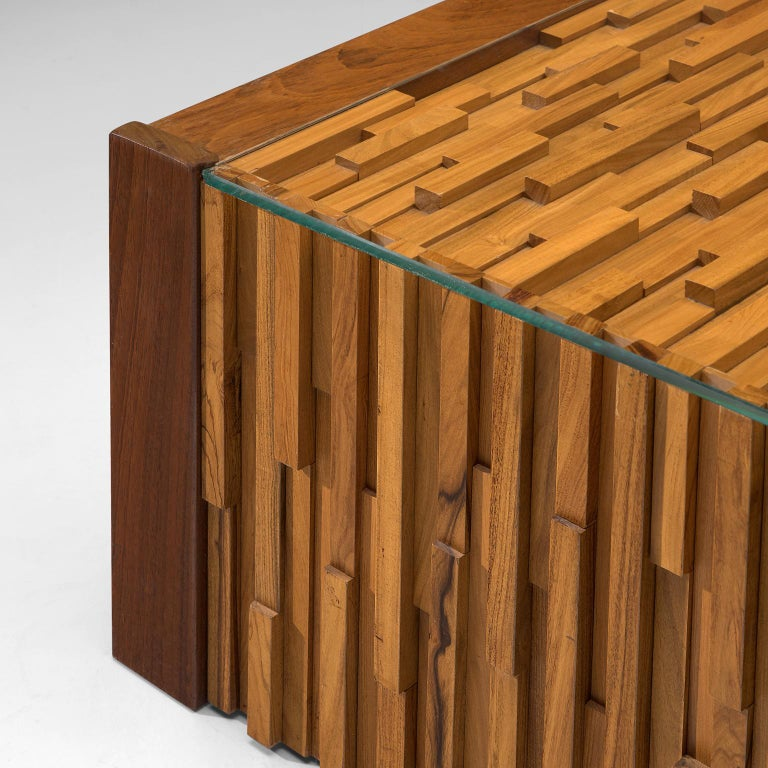 Late 20th Century Percival Lafer Square Coffee Table in Brazilian Hardwood For Sale