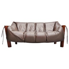 Percival Lafer Two-Seat Sofa in Mahogany Brazil, 1960