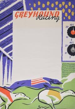 Percy Drake Brookshaw Greyhound Racing Original Coach Poster