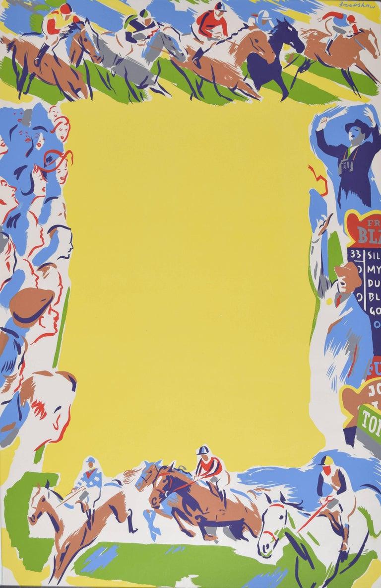 Percy Drake Brookshaw Horse Racing Original Coach Poster - Print by Percy Drake Brookshaw