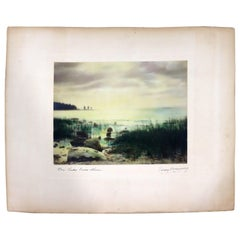 Percy Murray Lake Erie Shores Signed Vintage Photograph