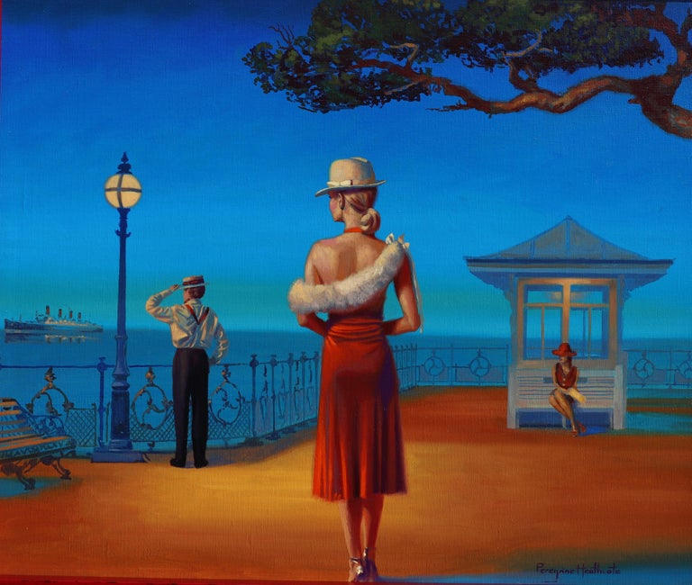 "Peregrine Heathcote Figurative Painting - ""Evening Light"""