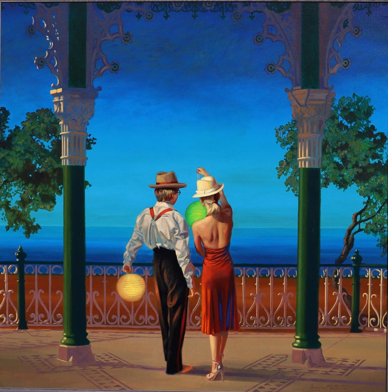 """Peregrine Heathcote Figurative Painting - """"Just the Two of Us"""""""