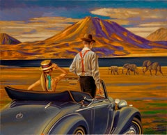 """""""On Safari"""" Journey on your own safari in a timeless car to spot the elephants."""