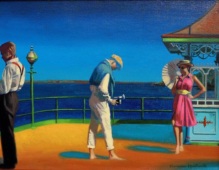 "Peregrine Heathcote Figurative Painting - ""On Vacation"""