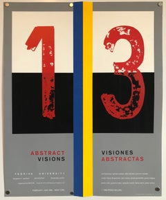 "Screen Print Poster Construction ""Abstract Visions"" Latin American Kinetic Art"