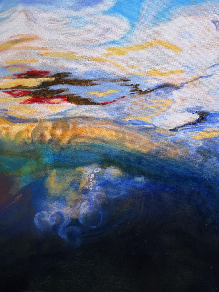 La Nageuse by Perez Petriarte Two Paintings that form One For Sale 4